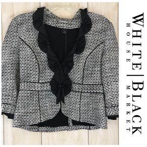 White House Black Market Tweed Cropped Jacket
